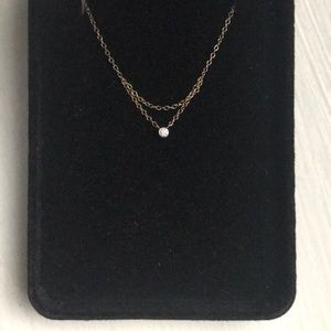 """""""Chained to my heart necklace, yellow gold"""""""